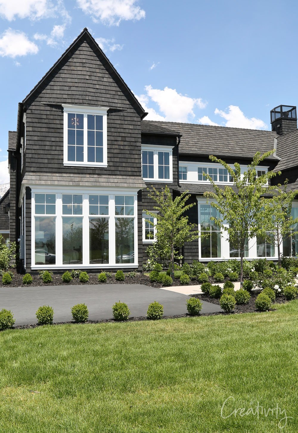 Charcoal shake Cape Cod style exterior