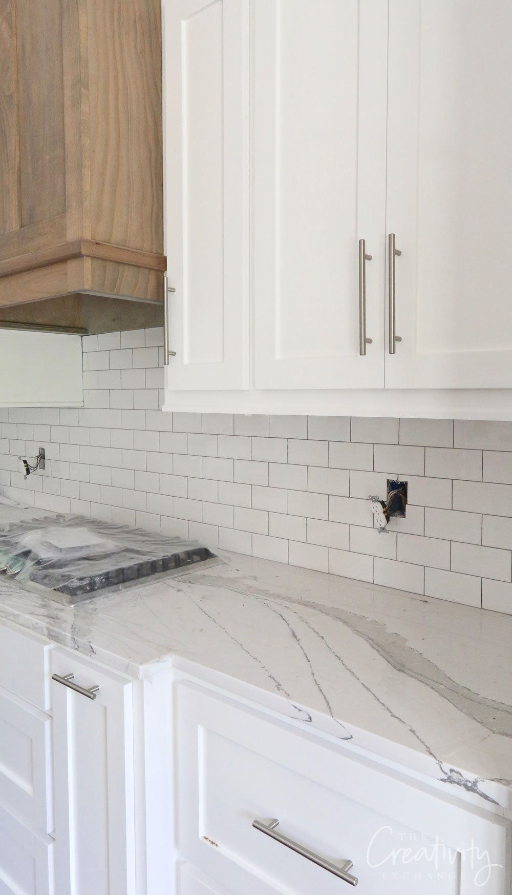 Quartz marble patterned countertops