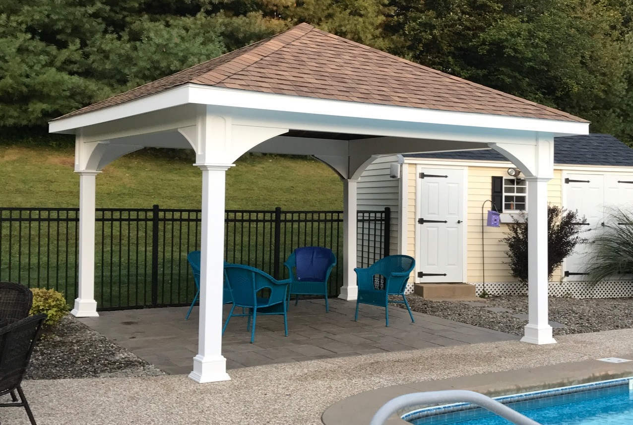 Pergola kit with roof