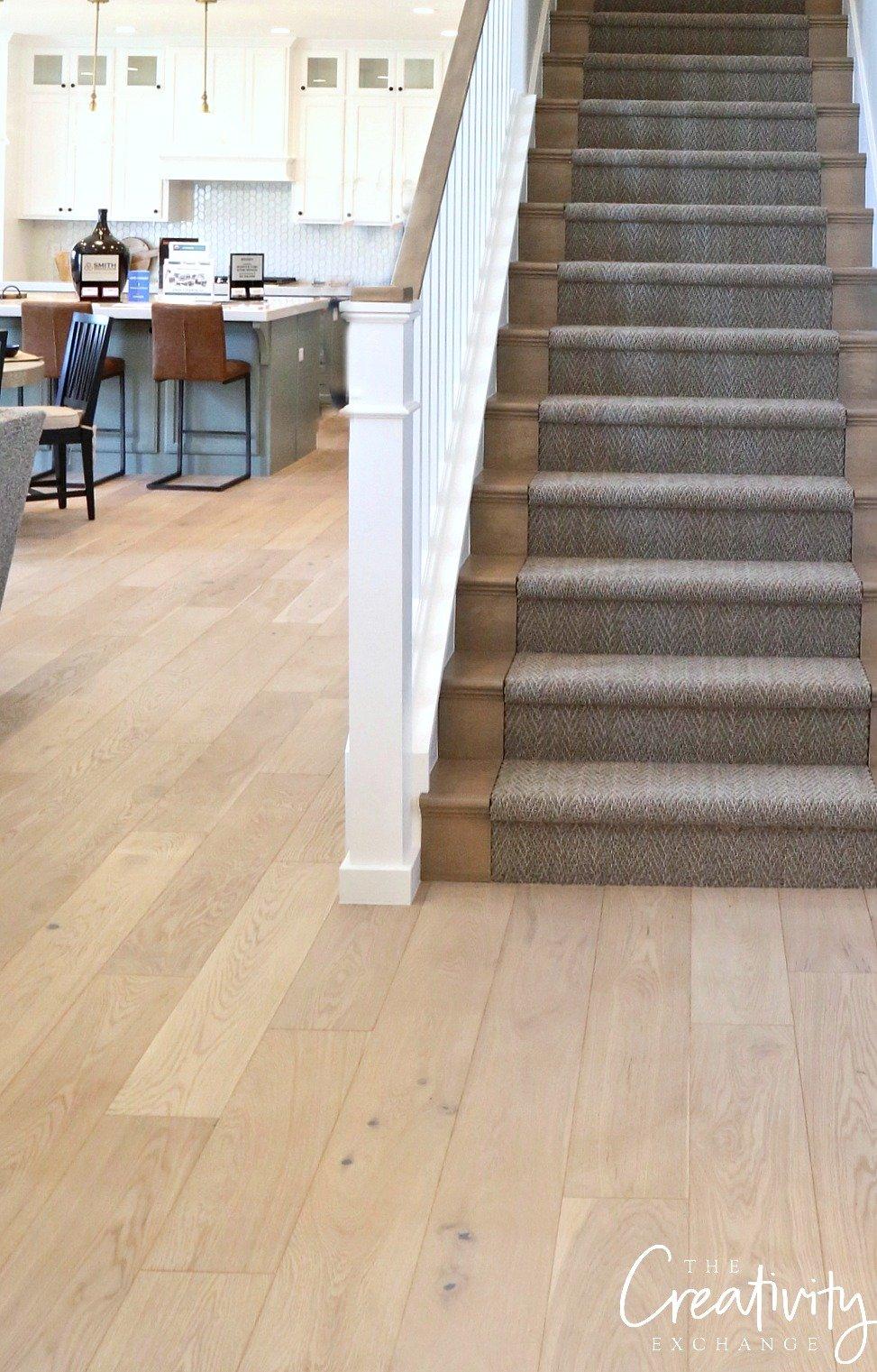 Wide plank oak hardwood floors