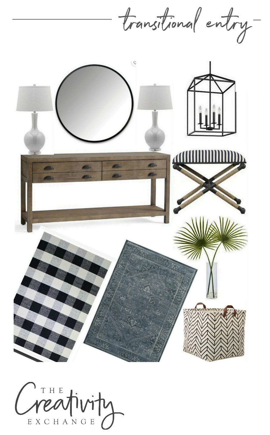 Transitional Entry Way Design Mood Boards