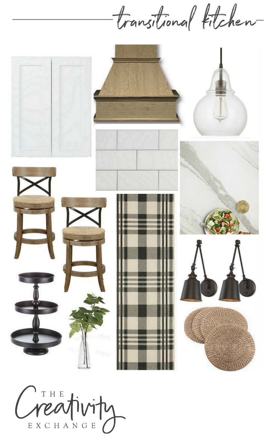 Transitional kitchen design mood board
