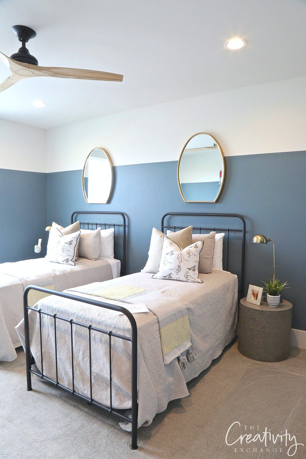 Wall color is Sherwin Williams Slate Tile