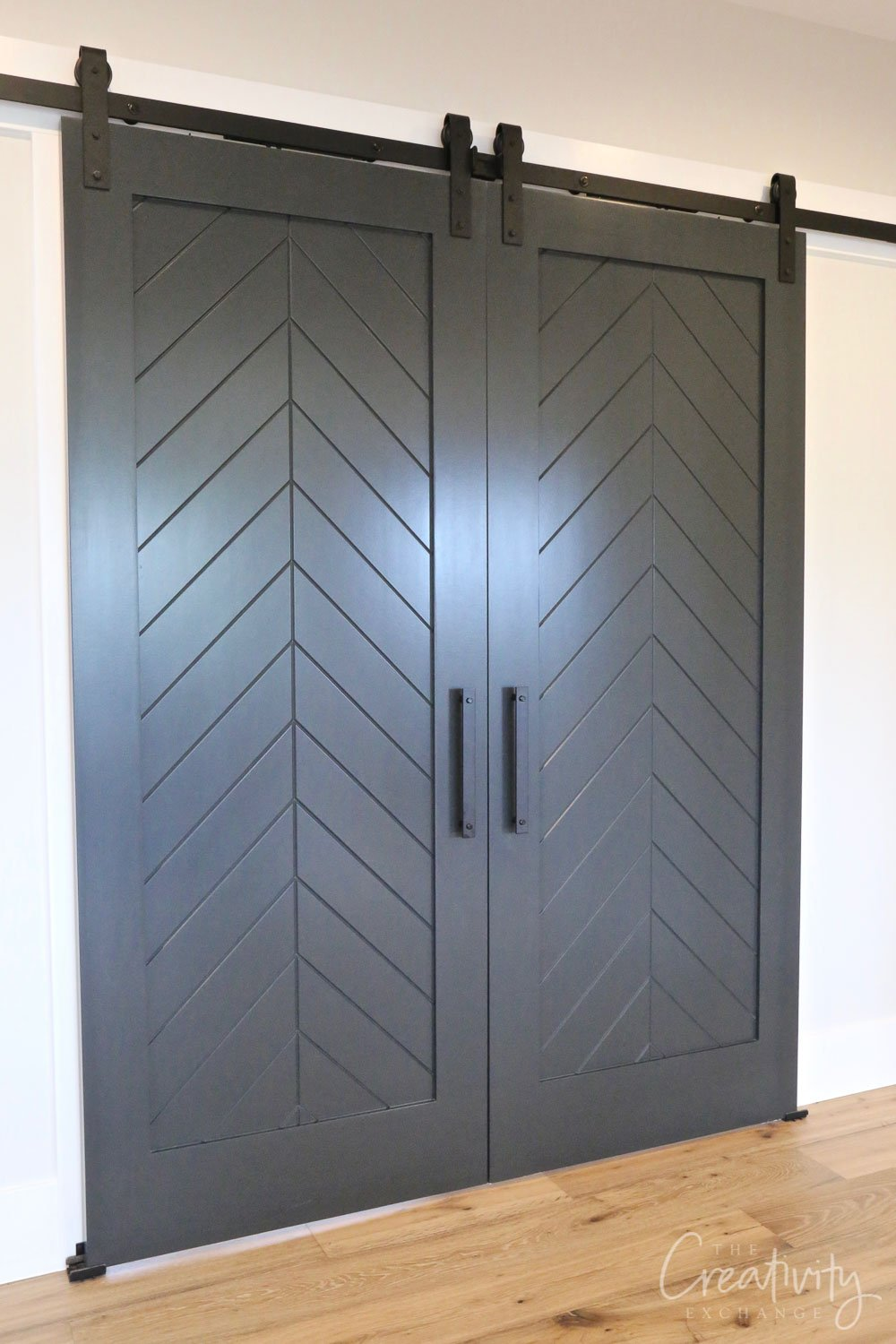 Door color is Sherwin Williams Grays Harbor