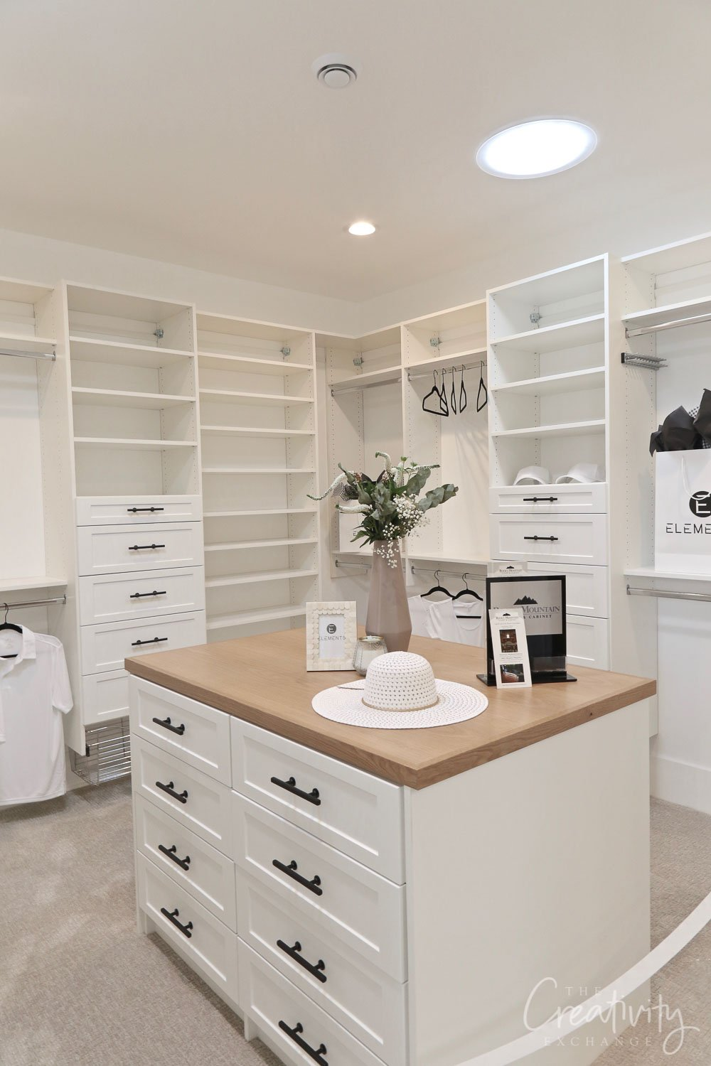 Large closet loaded with smart storage solutions