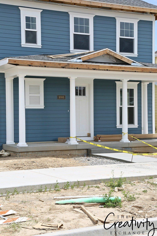 Blue exterior home