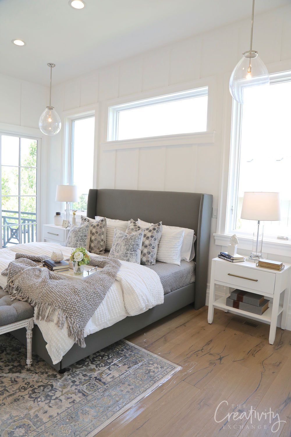 Wall color is Benjamin Moore Simply White