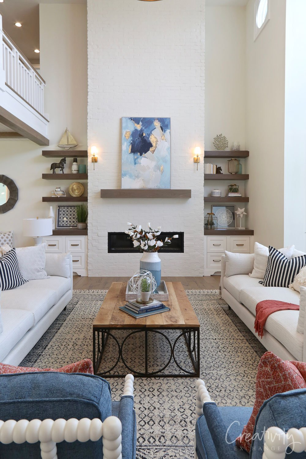 Living room color is Benjamin Moore Simply White