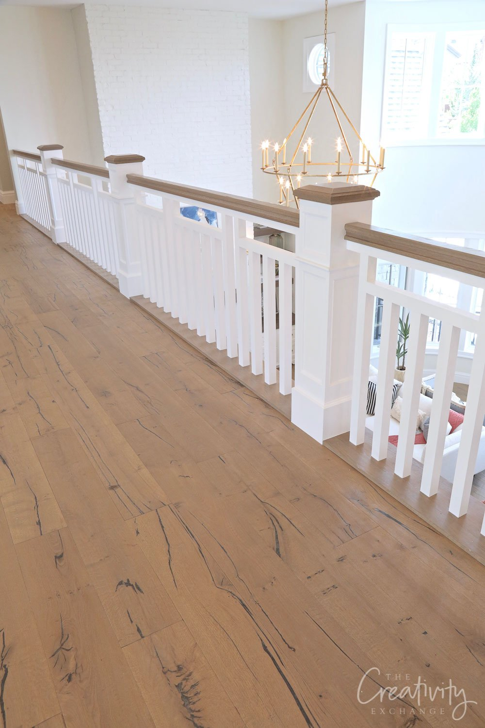 Solid white oak wide planked oil rubbed floors