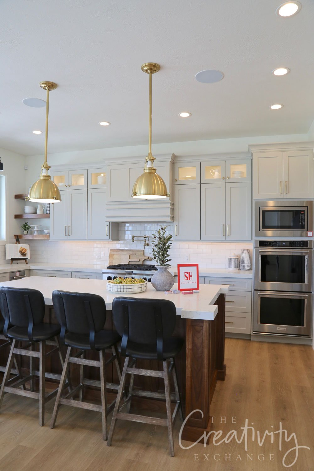 Kitchen Cabinetry is Sherwin Williams Repose Gray