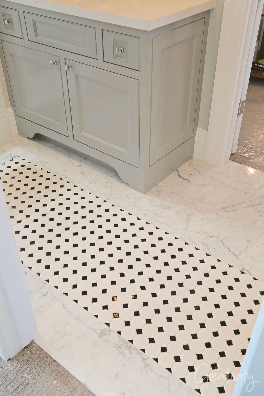Bathroom tile mixed tile