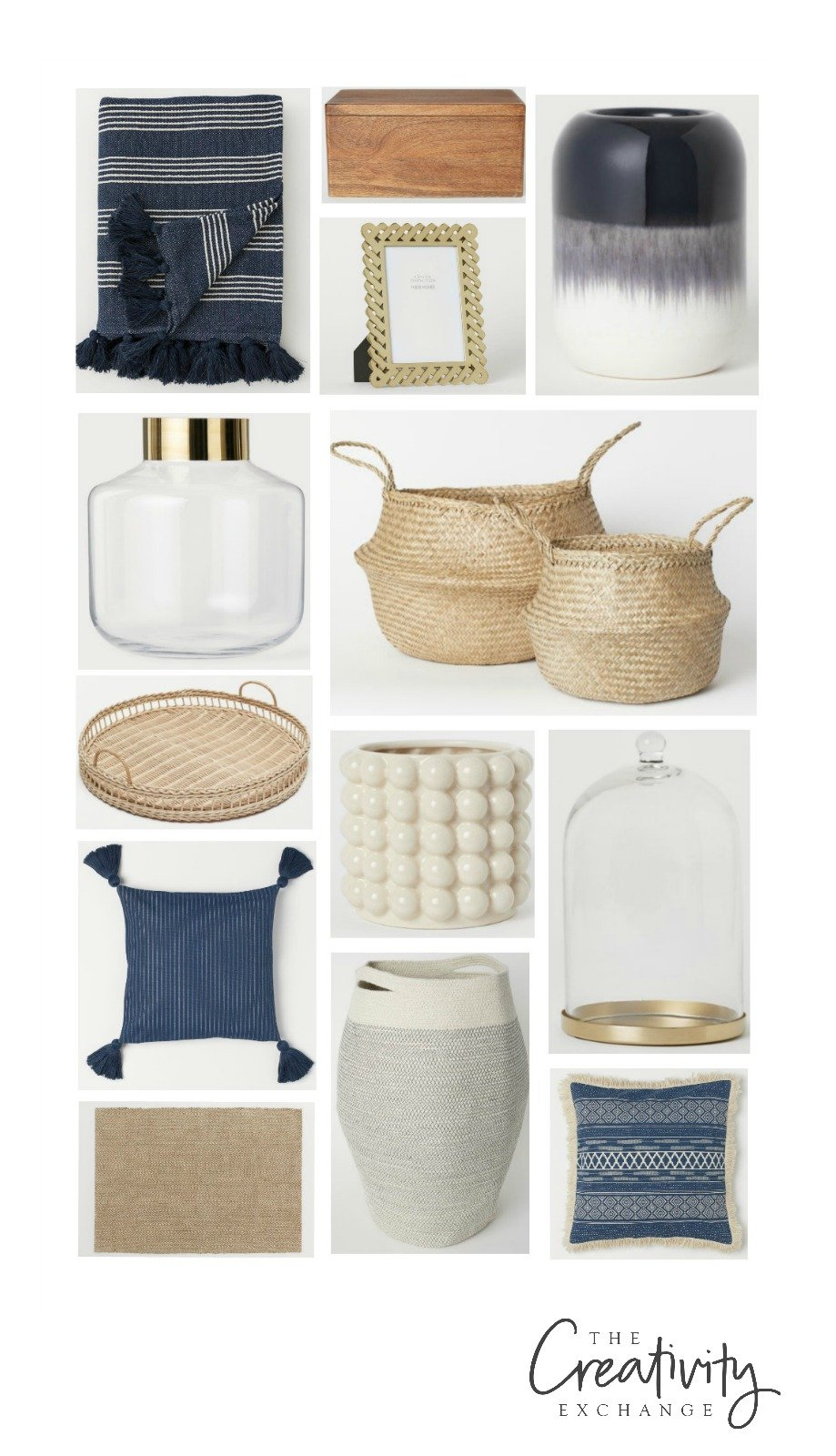 Navy home decor accessories