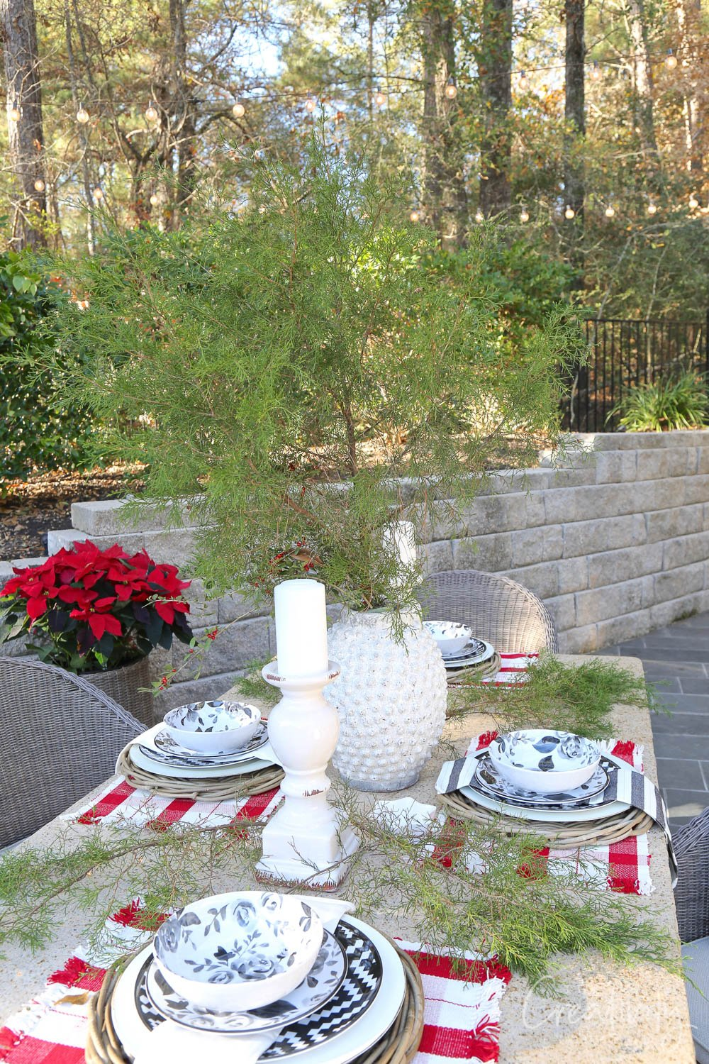 Outdoor Christmas Patio Dining Table