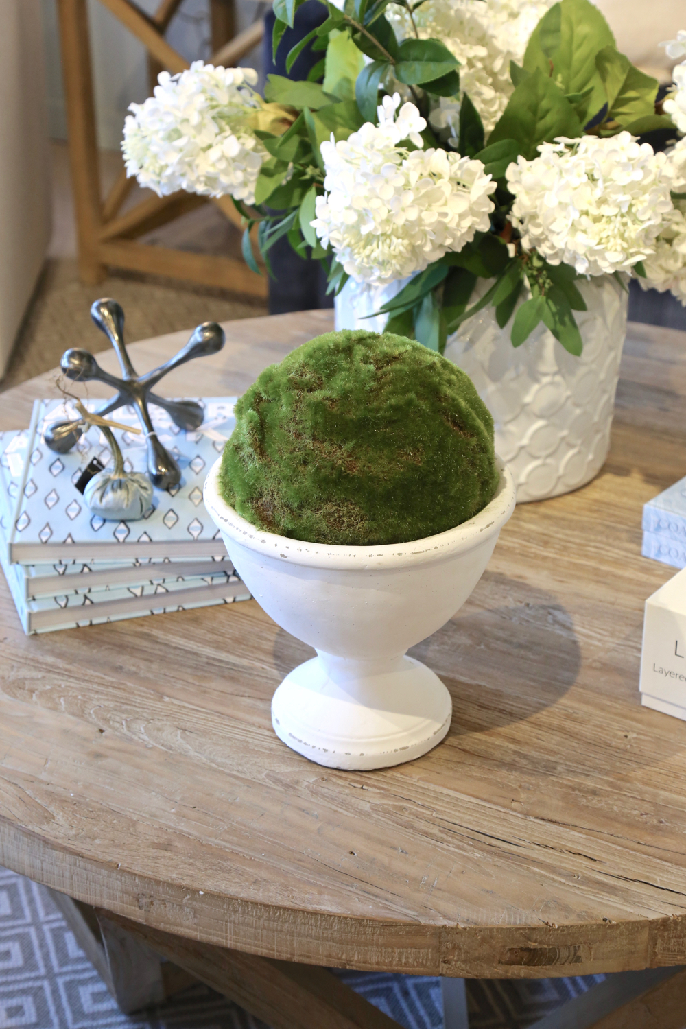 White bowl with Moss Ball