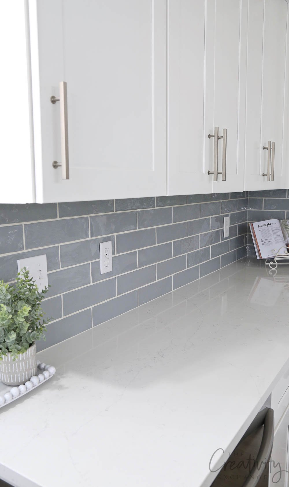 Beautiful gray/blue subtle subway tile