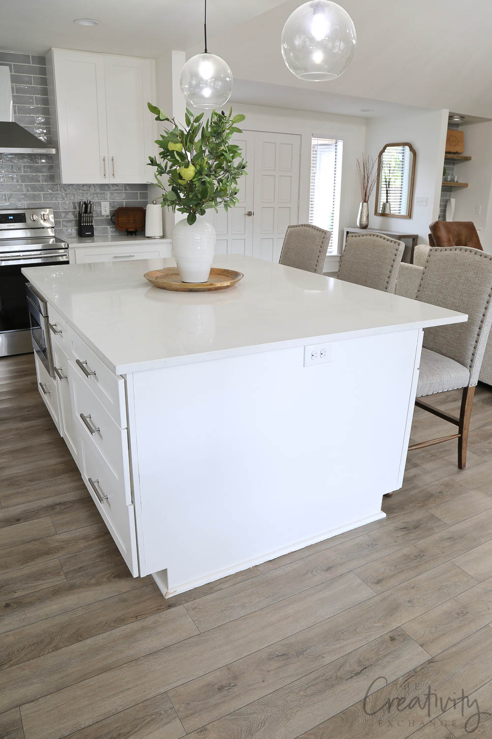 Large center kitchen island