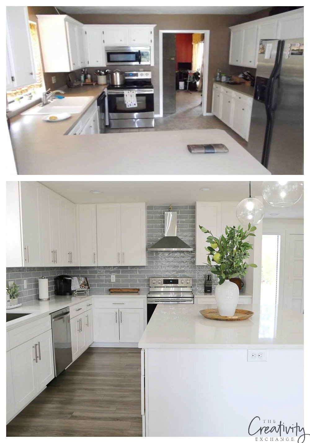 Amazing kitchen remodel project before and after