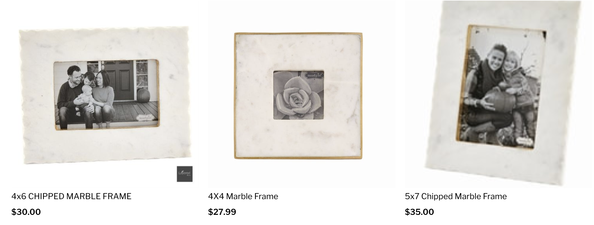Layered Home Marble Frames