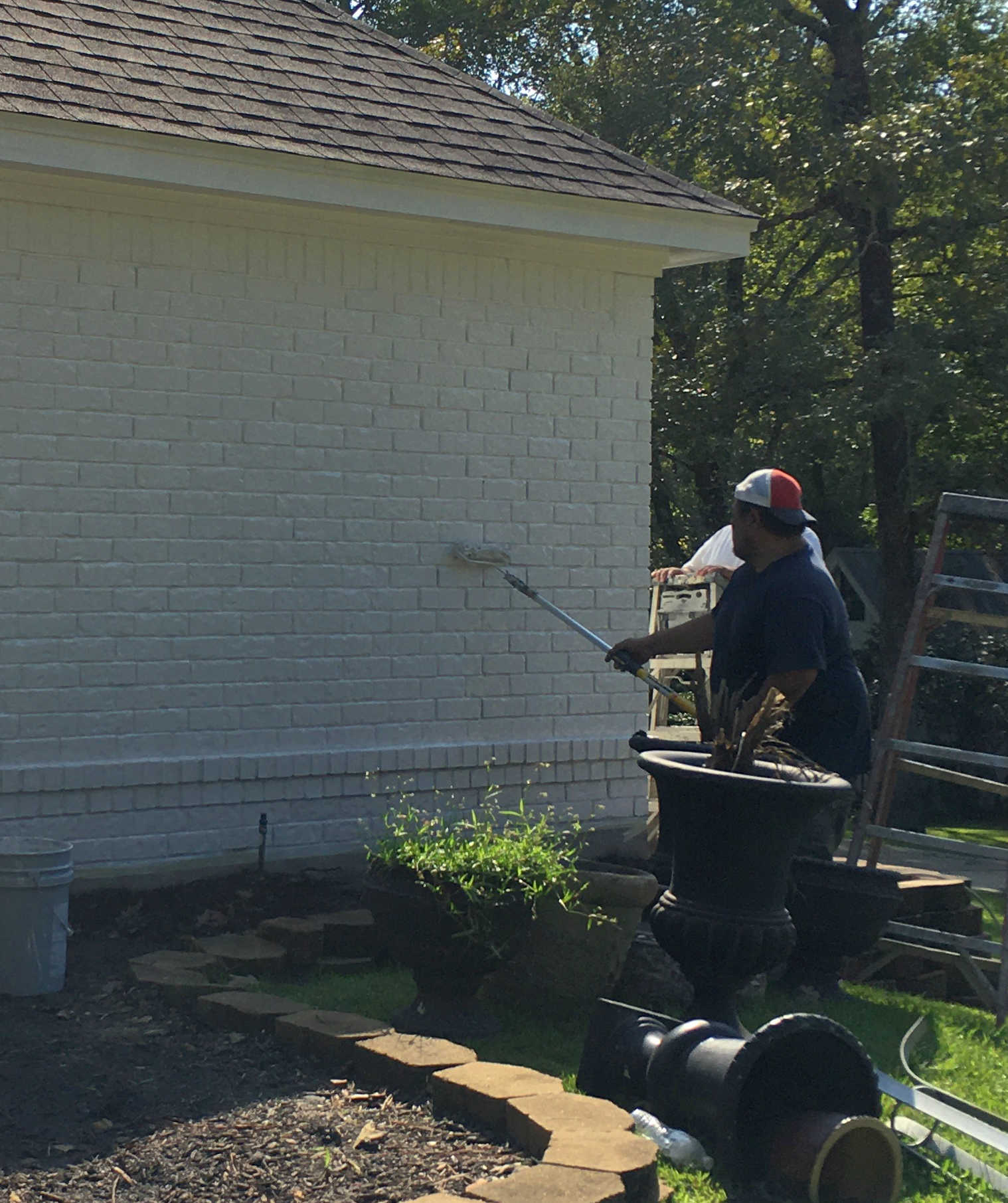 Painting exterior brick with Loxon