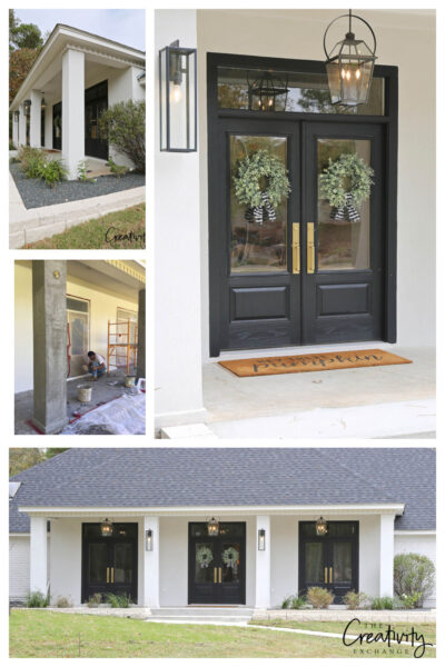 Dramatic exterior remodel project before and after