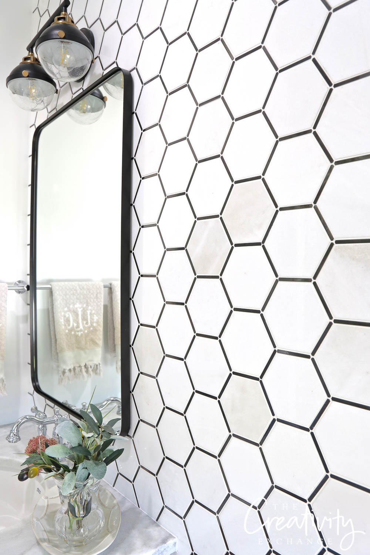 Black and white MSI tile