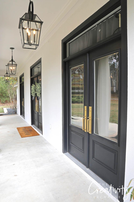 Double French Doors Solid Fiberglass
