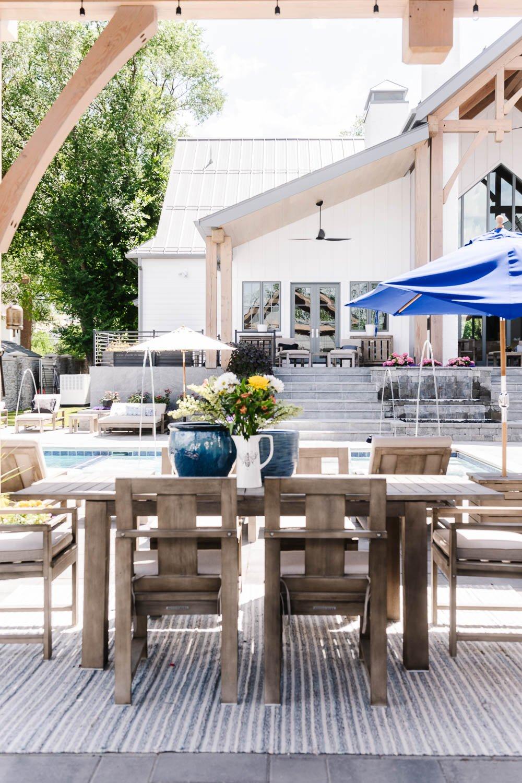 Outdoor multi-leveled patio