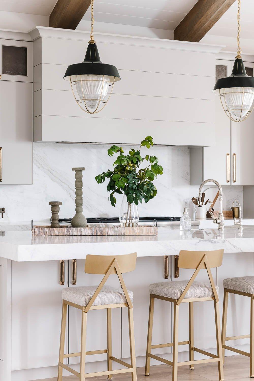 Light warm gray kitchen cabinets