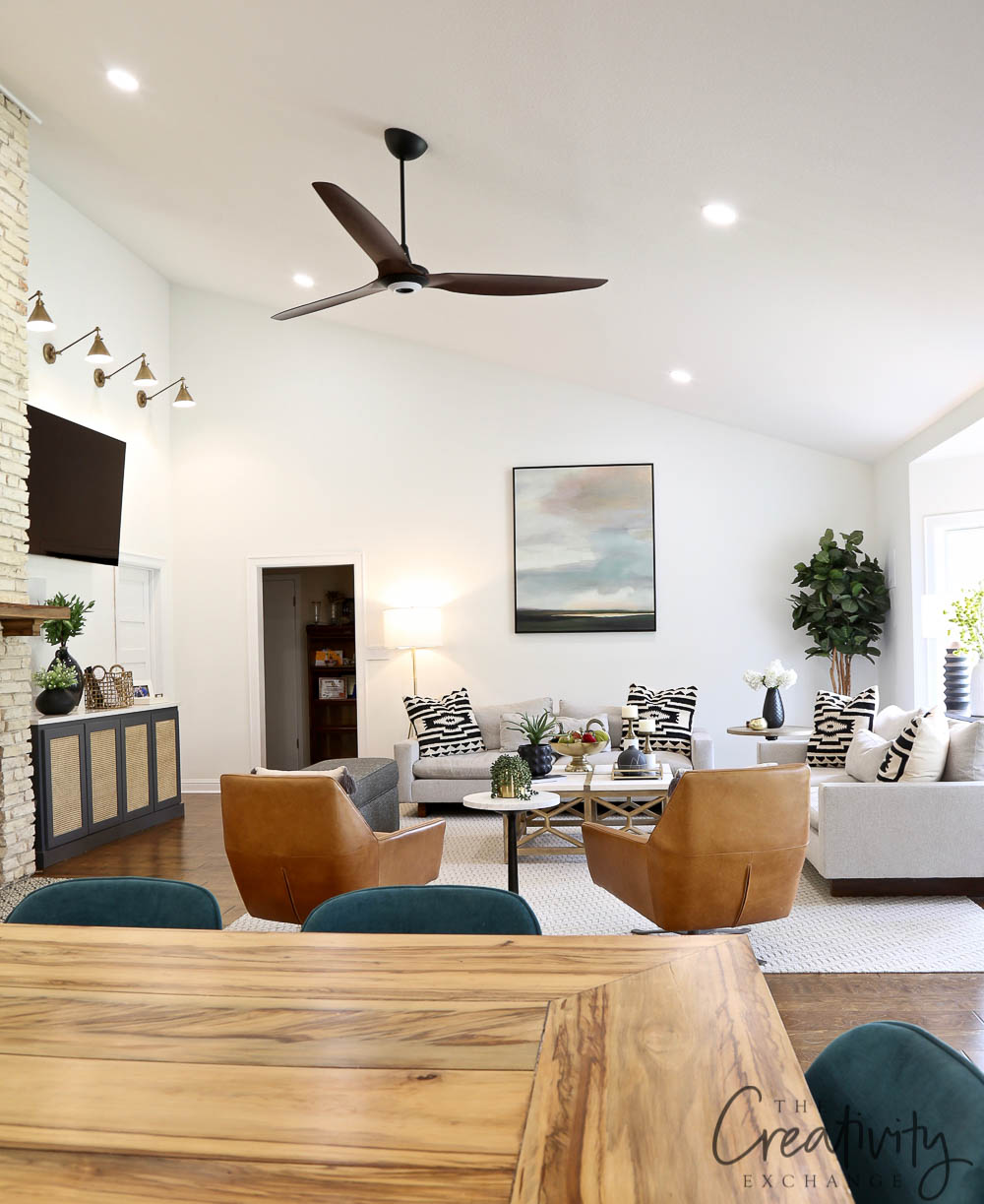 Mid Century Modern Living Room Remodel