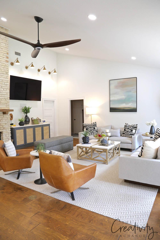 Mid Century Living Room Remodel