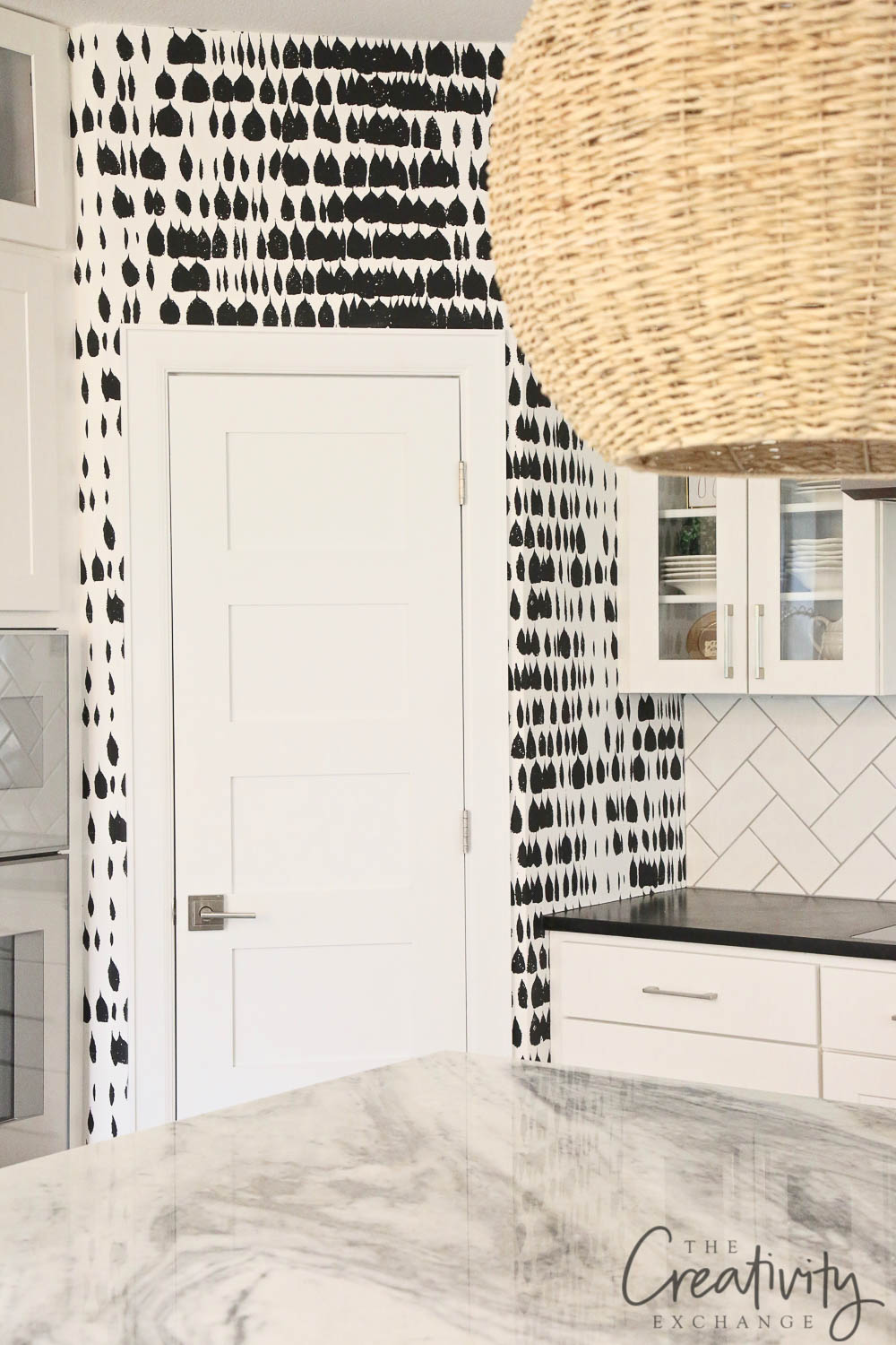 Black and white Shumacher Wall Covering