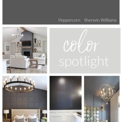 Sherwin Williams Peppercorn: Color Spotlight