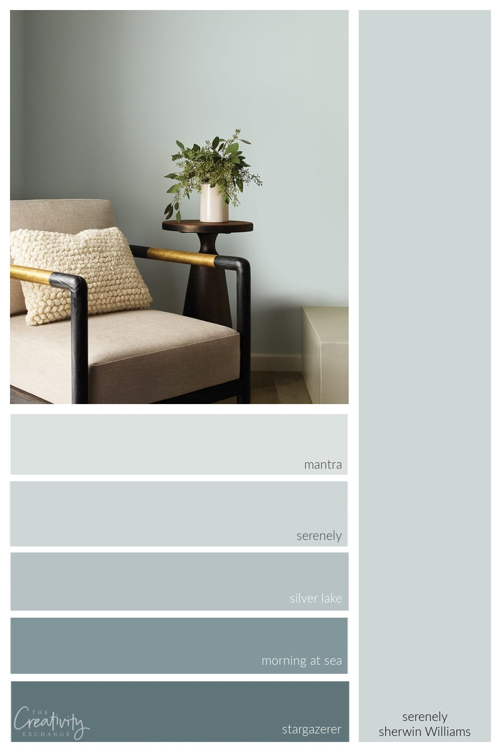 Sherwin Williams Serenely Color Strip