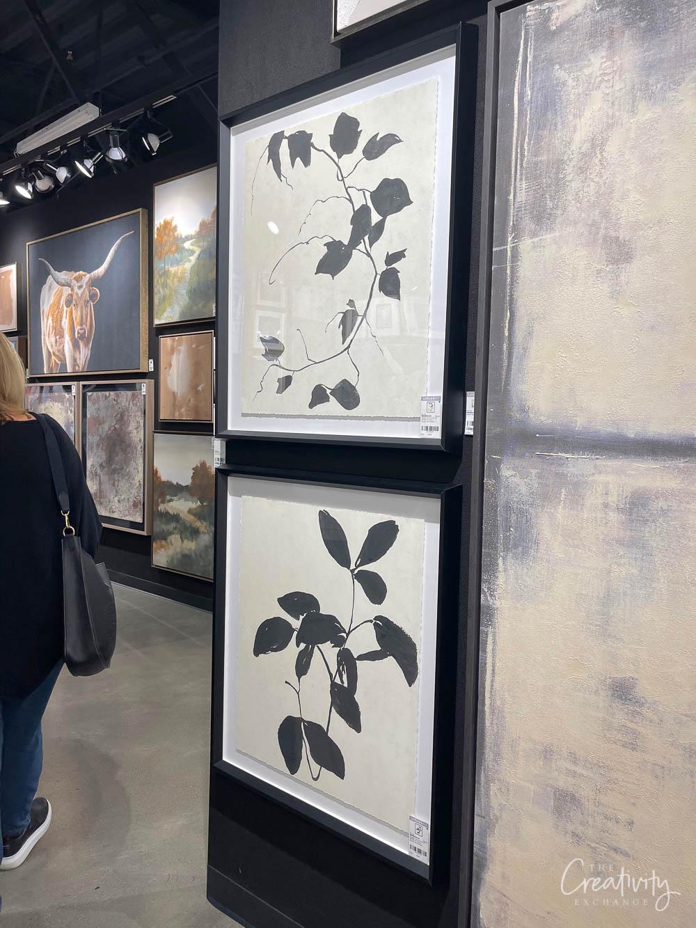 Framed Black and White Botanical prints