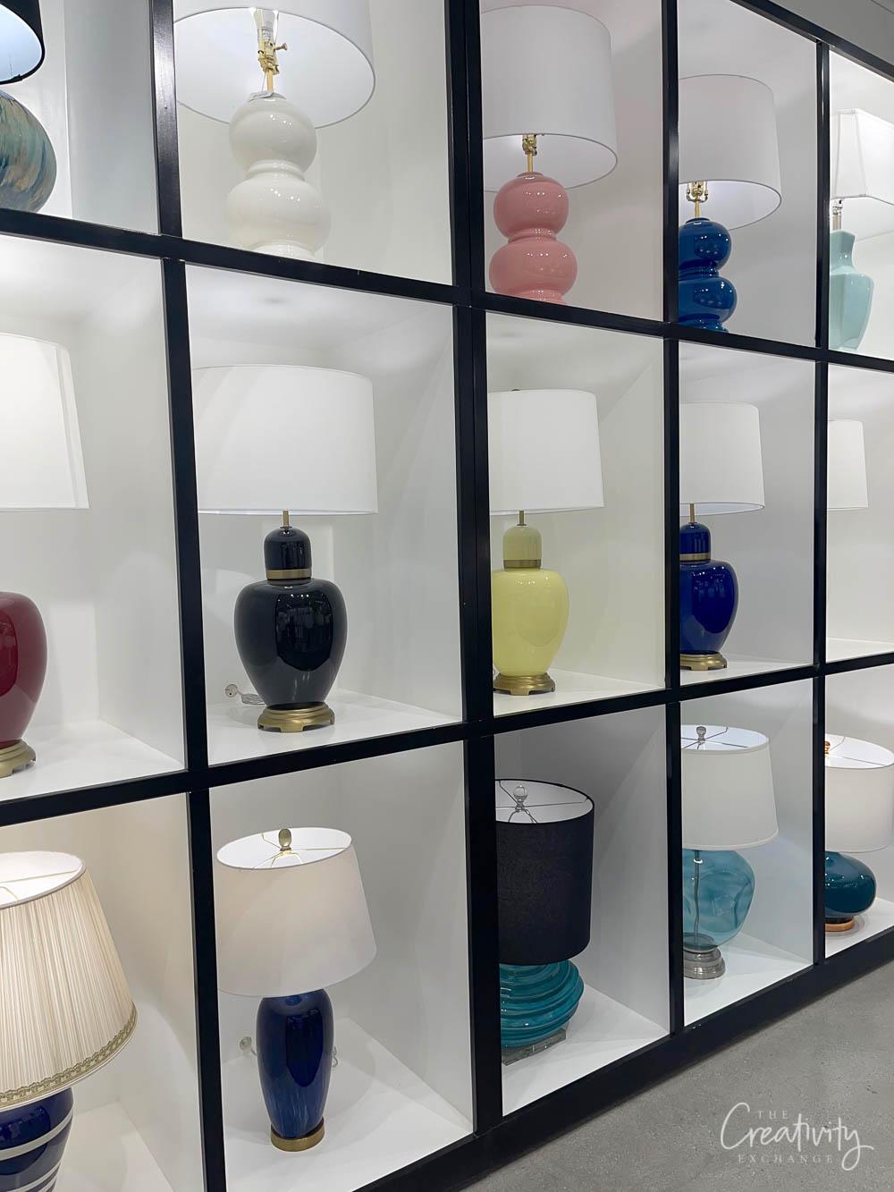 Colored lamp display