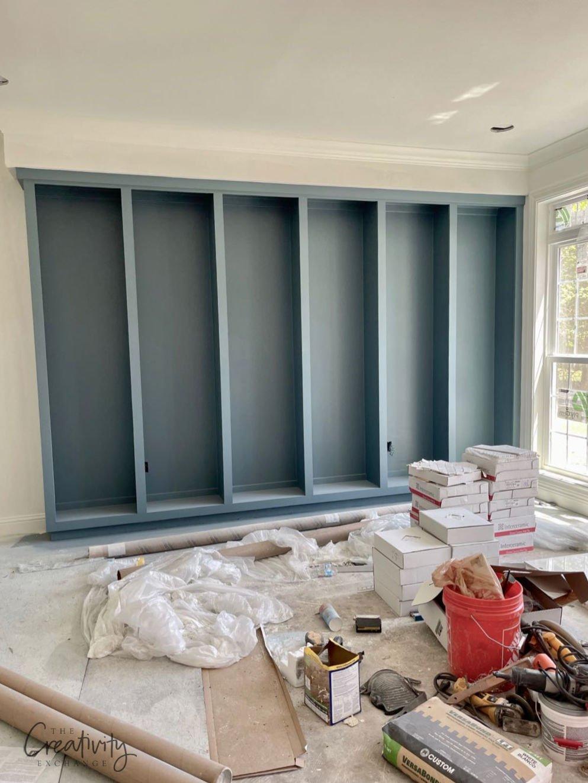 Sherwin Williams Smokey Blue Cabinets
