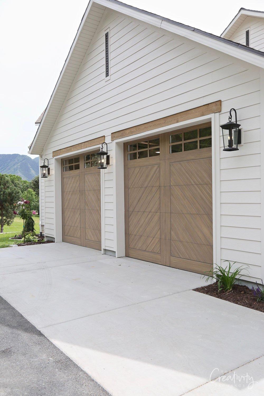 Modern wood garage doors