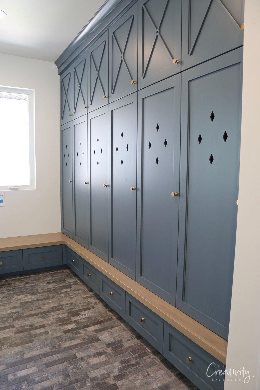 Locker color is Benjamin Moore Providence Blue