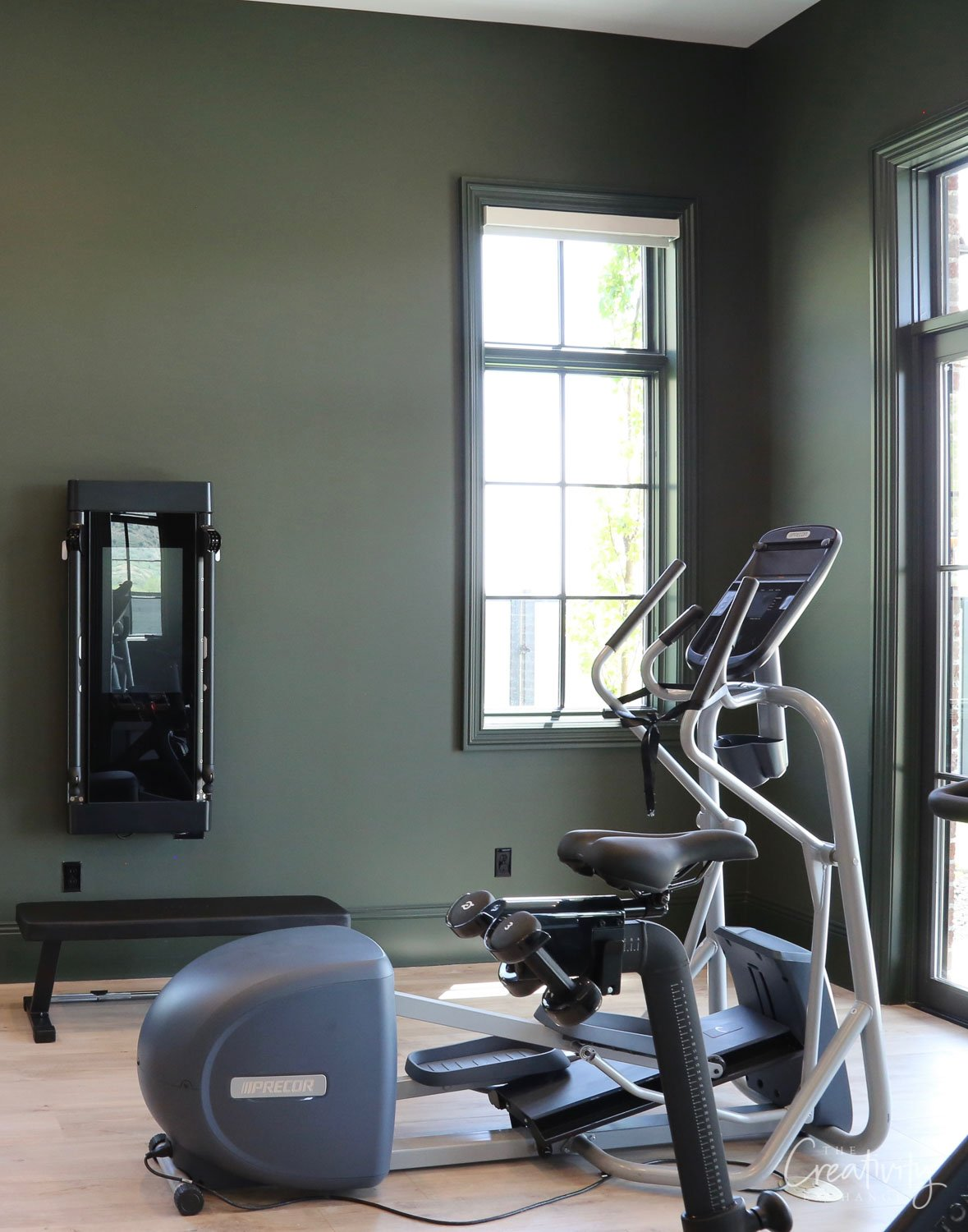 Wall color is Sherwin Williams Laurel Wood