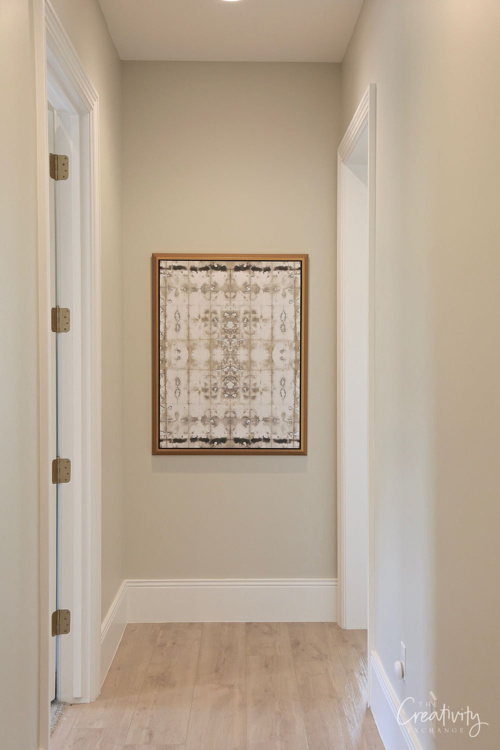Wall color is Sherwin Williams Useful Gray